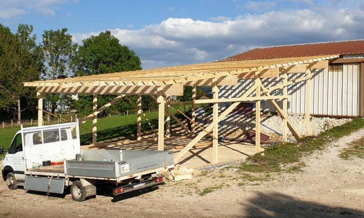 La lisière du bois Société de construction de maison en bois Saint-Laurent-en-Grandvaux - Construction